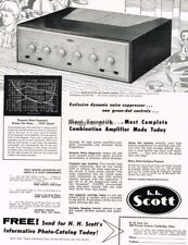 1957 H.H. Scott Model 210-E Amplifier Hi-Fi Vtg Print Ad