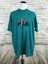 Men's Vintage Fila T-Shirt Size XL 90's Basketball Embroidered Rare S/S Italy