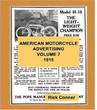 American Motorcycle Advertising Book Volume 7: Year 1915 ~276 pgs~ Nostalgia!