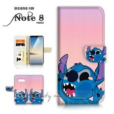 ( For Samsung Note 8 ) Wallet Case Cover P21578 Cute Little Monster