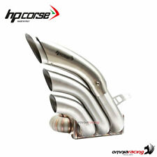 Terminale Hydrotre HP Corse satinato Cover acciaio MV Agusta Rivale 800 Racing