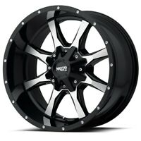 "22"" Moto Metal MO970 22x10 6x135 6x5.5 Black Machined Face Wheel -18mm Lifted"
