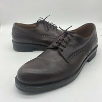 Hugo Boss Men's Lace Up Leather Wing Tip Dress Oxford Brown Shoes Size 8.5