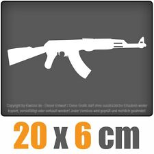 AK 47 Kalaschnikow 20 x 6 cm JDM Decal Sticker Aufkleber Racing Die Cut