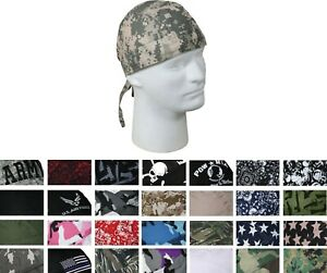 Head Wrap Do-Rag Bandana Scarf Biker Camo Cotton Head Cover