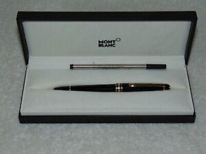 Vintage Mont Blanc Meisterstuck Classique 163R Black & Gold Rollerball Pen xtras