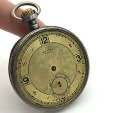 Antique Senta Omega Pocket Watch Bruderer Mechanical PARTS Swiss Made Rare Retro