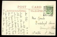 Somerset SELWORTHY used 1908 RP PPC superb Minehead squared circle