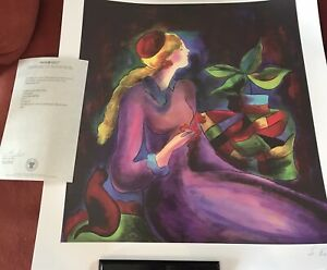"""2013 Linda Le Kinff """"Passing Time with Max"""" Seriolithograph With COA"""