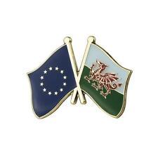 Galles & Eu Drapeau Émail Pins Broche Badge / Union Européenne Remain Gallois