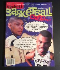 Beckett Basketball Card Monthly September 1997 Robinson & Duncan Cover