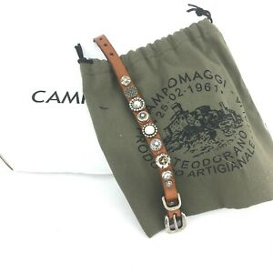Campomaggi Leder Armband Nieten cognac C003390ND X0187 C1502