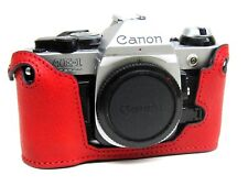 Leather Red Half Case for Canon A1 or AE1 Program - BRAND NEW