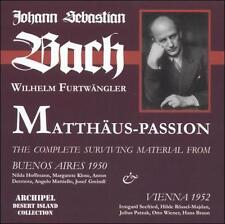 Bach: St. Matthew Passion--excerpts, New Music