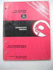 John Deere 355 Wing Fold Power Flex Disk Om-A48057 A4 Operators Manual