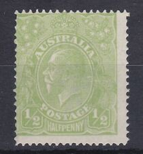 G398) Australia 1915 ½d Cyprus green KGV Single wmk, ACSC 63H MUH
