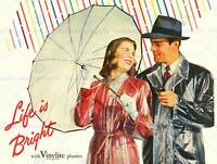 ADVERT LIFE BRIGHT VINYLITE PLASTICS UMBRELLA RAINBOW FINE ART PRINT CC142