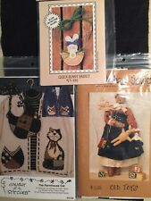 Primitive/Folk Art Sewing Patterns Lot Of 3