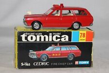 TOMICA POCKET CARS #78 NISSAN CEDRIC FIRE CHIEF STATION WAGON, EXCELLENT, BOXED