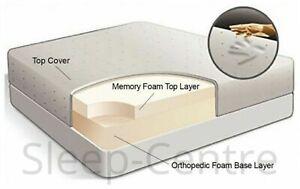 "MEMORY FOAM ORTHOPADEIC MATTRESS ,3FT,4FT,4FT6,5FT,6FT +6"",8"",10"",12"" DEPTH"