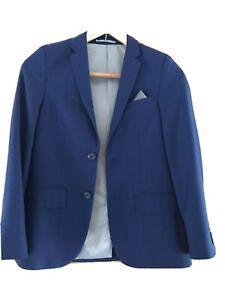 Boys Navy Blue Blazer Suit Jacket Formal Wedding Age 11