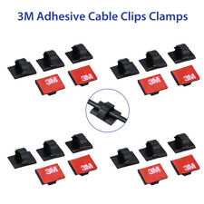 Genuine 4X 3M Plastic Adhesive Cable Clips Car Wire Tie Sticker for Car Dash Cam