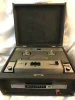 Vintage Wollensak Model 1220 Tape Recorder Reel with Case For Parts Decor 3M Old