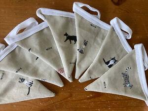 Handmade Bunting In Sophie Allport Cat Fabric