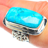 Huge Arizona Turquoise 925 Sterling Silver Ring Size 6.5 Ana Co Jewelry R52152F