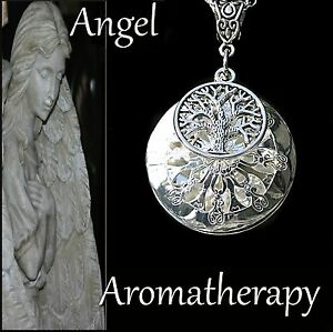 Essential Oil Tree of Life Diffuser Locket Necklace Aromatherapy U.S. Seller