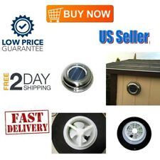 Solar Attic Fan ROOF Caravan Vent Mount Exhaust Air Ventilator For Small Spaces