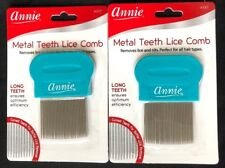 BRAND NEW LOT OF 2 ANNIE METAL TEETH LICE COMB #337 REMOVES LICE AND NITS