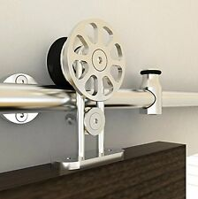 2M european spoke wheel top mounted stainless steel sliding  barn door hardware