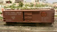 Train Miniature HO West India Fruit & Steamship  40' Steel Boxcar, Upgraded, Ex