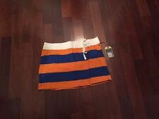 NWT WOMENS Converse All Star Striped orange And blue Skirt Size Large