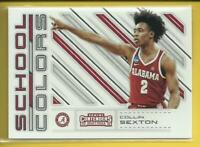 Collin Sexton RC 2018-19 Contenders Draft Picks School Colors Rookie Cavaliers