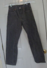 Levi's 501 32 x 30 1/2 Actual Straight Fit Button Fly Gray Denim Jeans