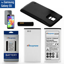 7500mAh Samsung Galaxy S5 Extended Battery Phone Battery with Black Back Cover
