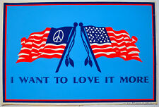 I Want To Love It More –1971 Flocked Blacklight Poster by Hip Products; No 62266