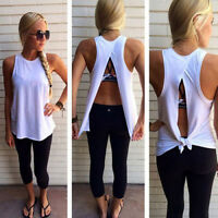Sexy Womens Summer Vest Top Sleeveless Blouse Casual Tank Tops T Shirt