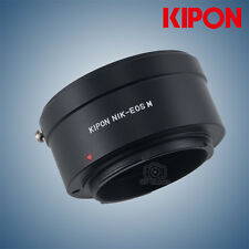 Kipon Adapter for Nikon F mount to Canon EOS M Interchangeable Digital Camera