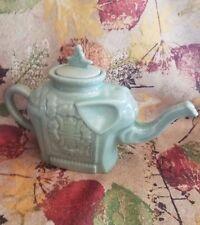 VTG 1960's Celadon Chinese Teapot Green Jade Elephant EUC