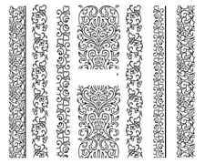 Nail art stickers décalcomanie bijoux d'ongles: bandes noires design