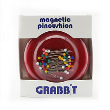 GRABBIT Red Magnetic Pincushion With Ball Head Pins