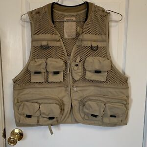 Master Sportsman Rugged Outdoor Gear Hunting Fishing Vest Men's Size Large Tan