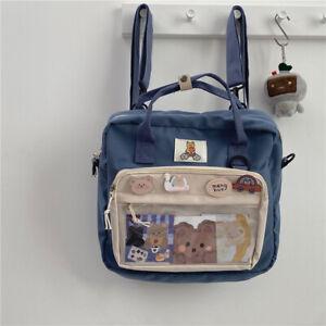 Transparent Backpack Japanese Itabag Shoulder Bag Satchel Cute Doll Bag Handbag