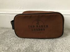 Ted Baker London Brown Sports Bag Toiletry Bag Full Zip