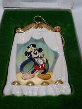 DISNEY CHRISTMAS ORNAMENT Magician Mickey Collector's Society 1997 Box & COA