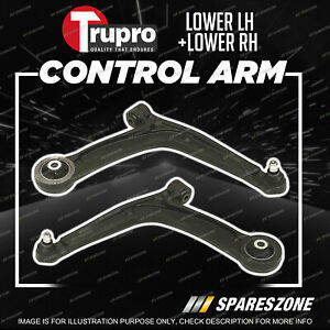 2 Pcs Trupro Lower Control Arms for Fiat 500 C 312 Hatch Convertible 2008-2015