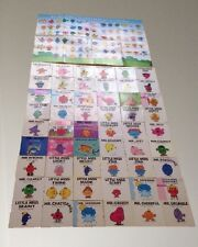 ROGER HARGREAVES - MR MEN & LITTLE MISS - 54 Books Collection With Poster bundle